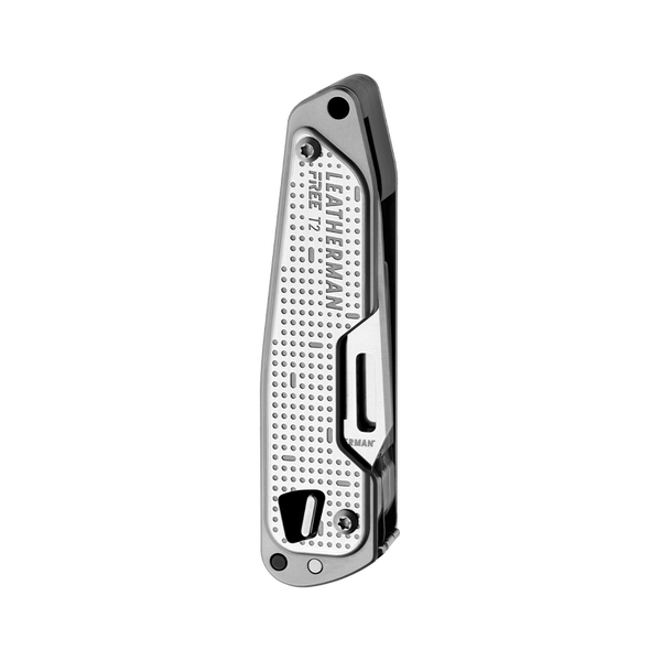 Leatherman FREE T2, silver, open fanned view