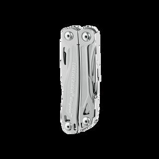 Leatherman wingman multi-tool, stainless steel, 14 tools, closed view