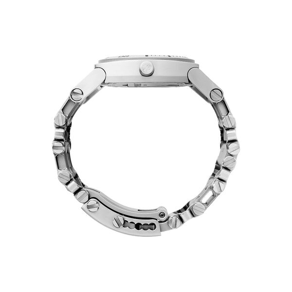 Leatherman tread tempo multi-tool watch in stainless steel, 30 tools, side view image number 2