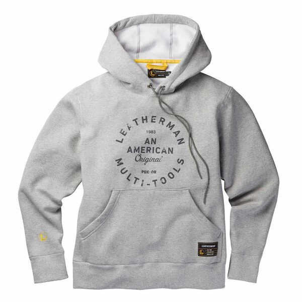 Gray Pullover hoodie with heritage badge front side image number 0
