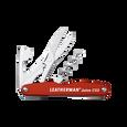 Leatherman Juice CS3 multi-tool, red, 4 tools, open view