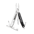 Leatherman juice SX multi-tool, black and silver, 11 tools, open view