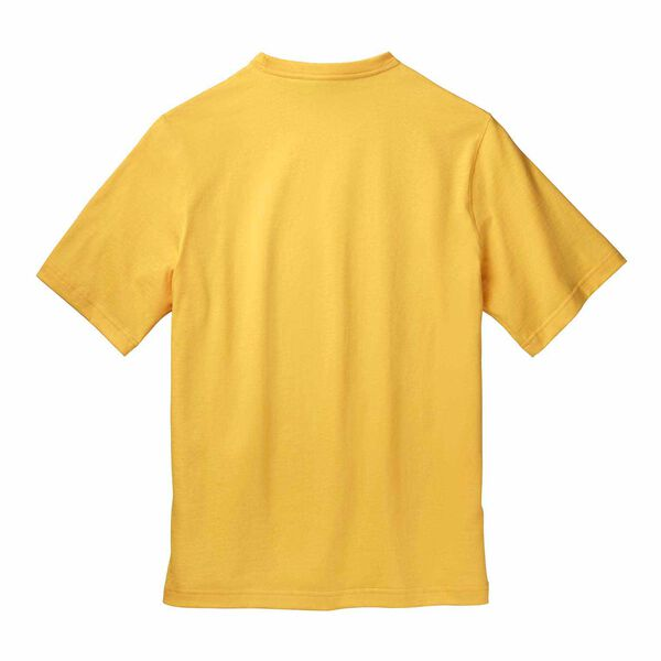 Yellow short sleeve T-Shirt with heritage badge back side image number 1