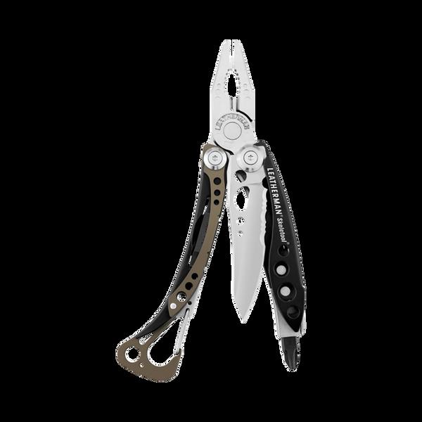 Leatherman skeletool multi-tool, stainless steel, 7 tools, open view