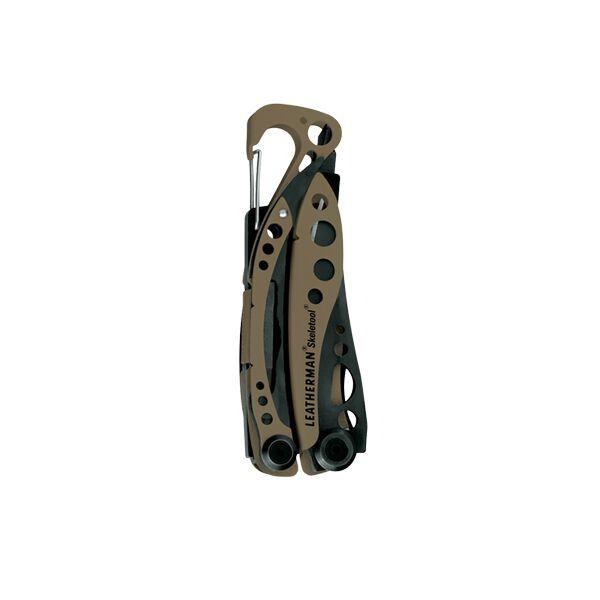 Leatherman skeletool multi-tool, tan, 7 tools, closed view image number 2