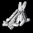 Leatherman juice cs4 multi-tool, compact, granite, 15 tools, angled open view
