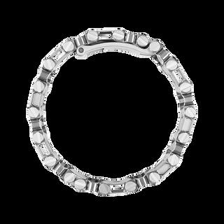 Leatherman tread multi-tool bracelet in stainless steel, side view