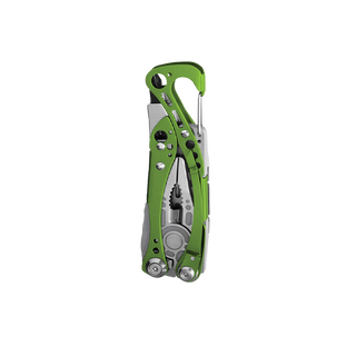 Leatherman skeletool multi-tool, green, 7 tools, closed view