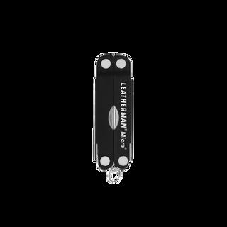Leatherman micra multi-tool, black, 10 tools, closed view