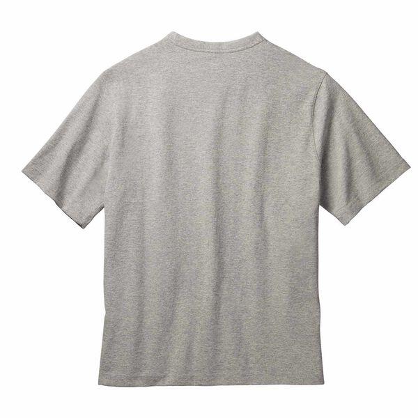 Gray short sleeve T-Shirt with heritage badge back side image 1