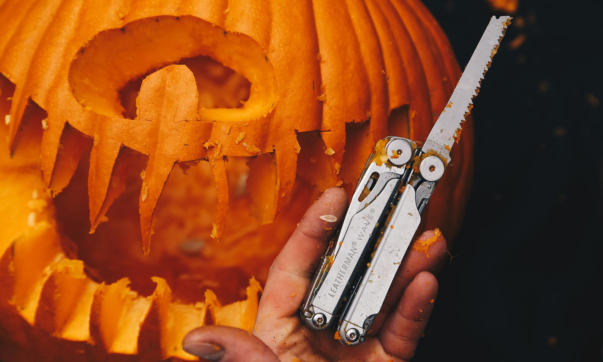 leatherman pumpkin carving