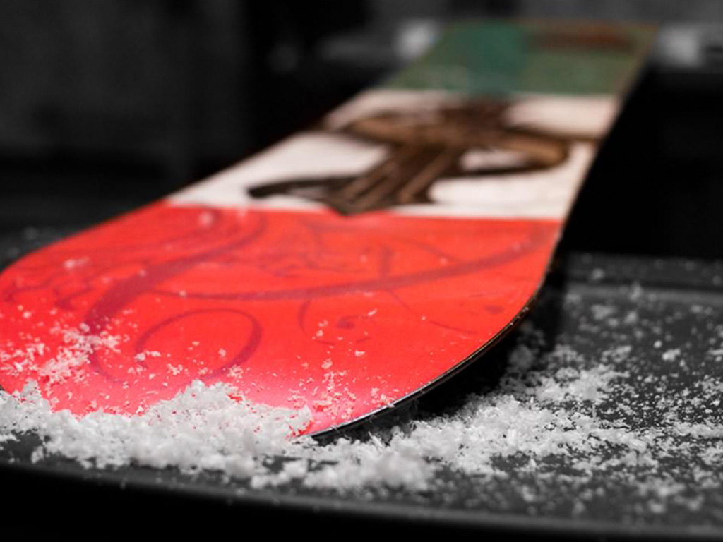 snowboard on table