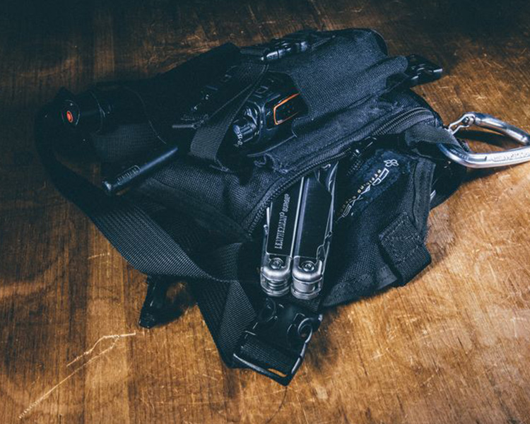 gear with Leatherman tool