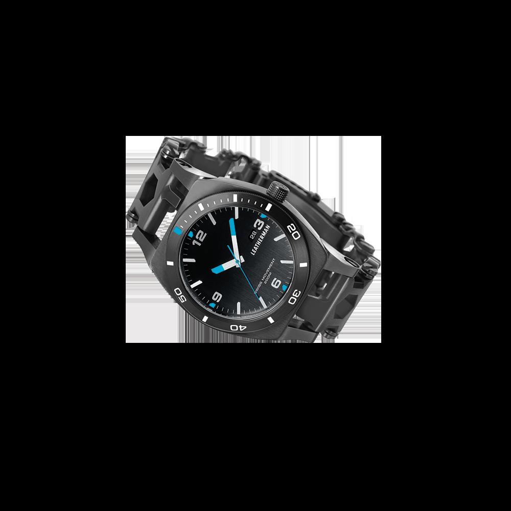 Leatherman tread tempo multi-tool watch in black, 30 tools