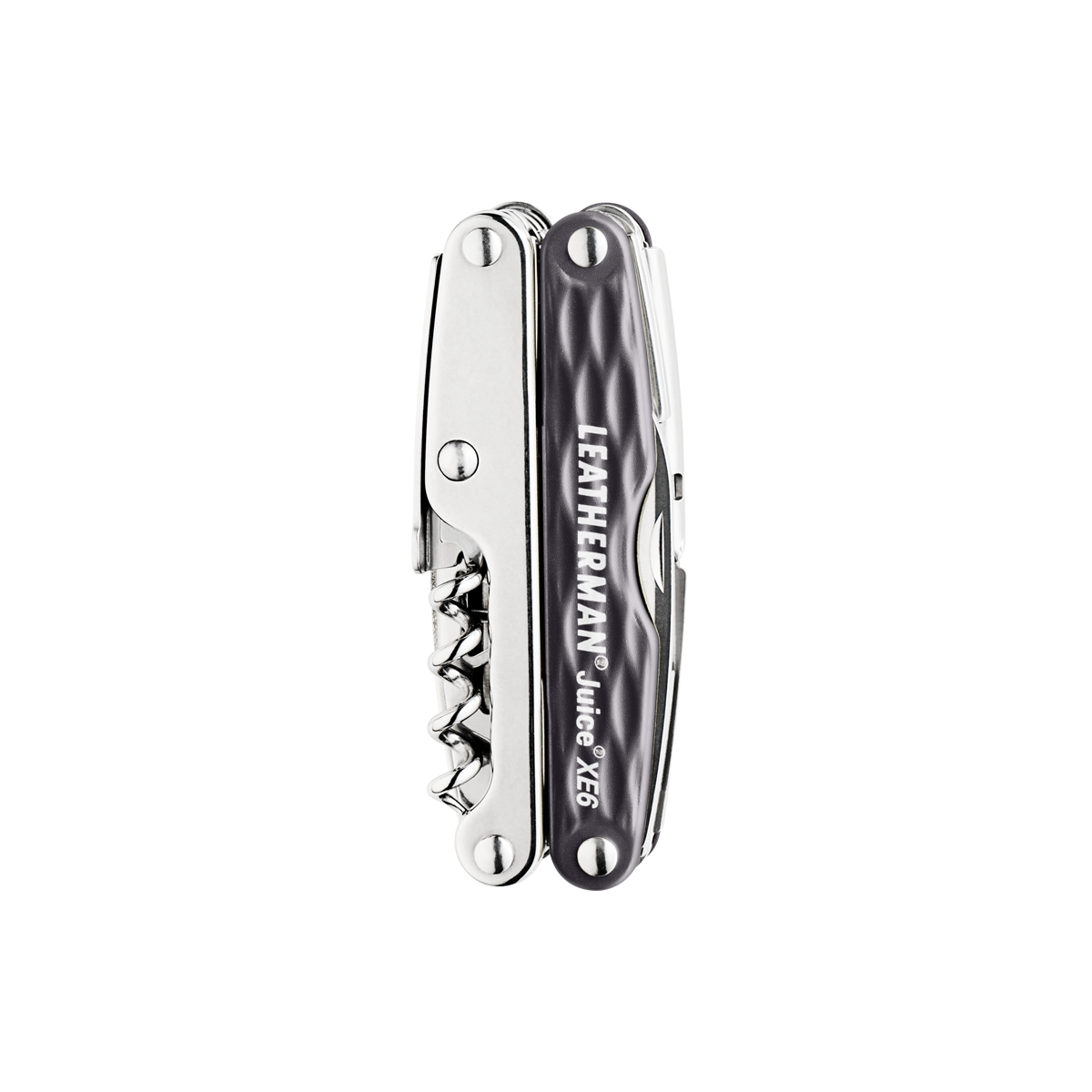 Leatherman juice xe6 multi-tool, granite, closed view