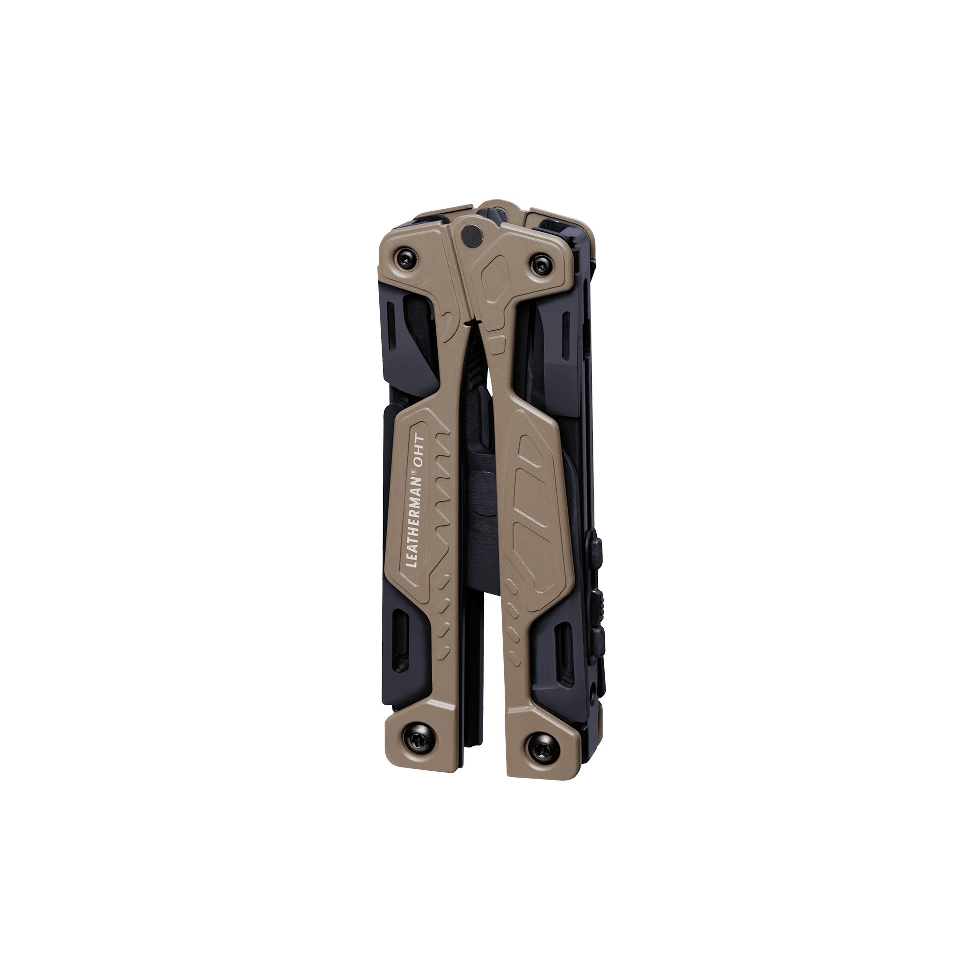Leatherman OHT multi-tool, coyote tan, 16 tools, closed view