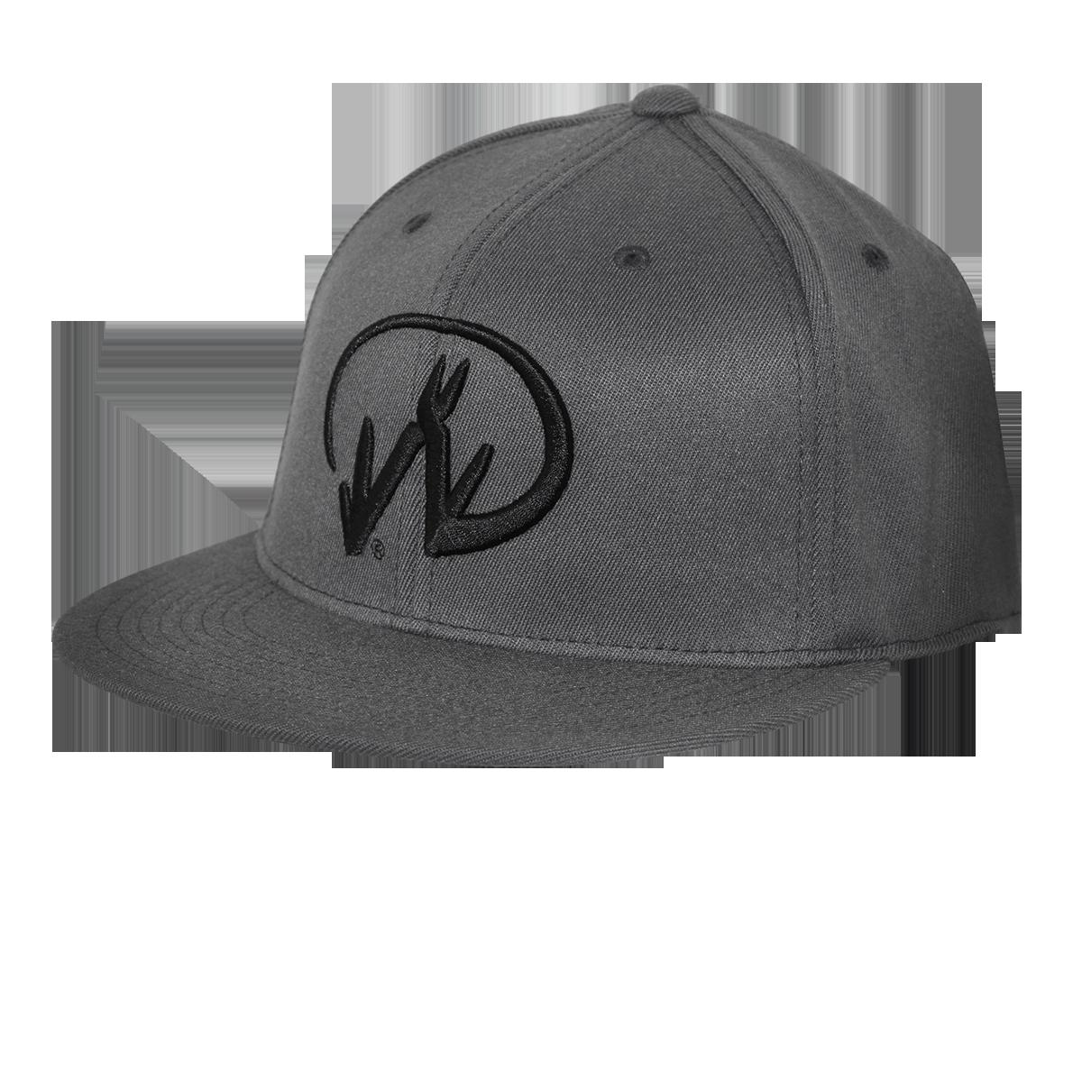 Gray Flexfit Baseball Logo Hat