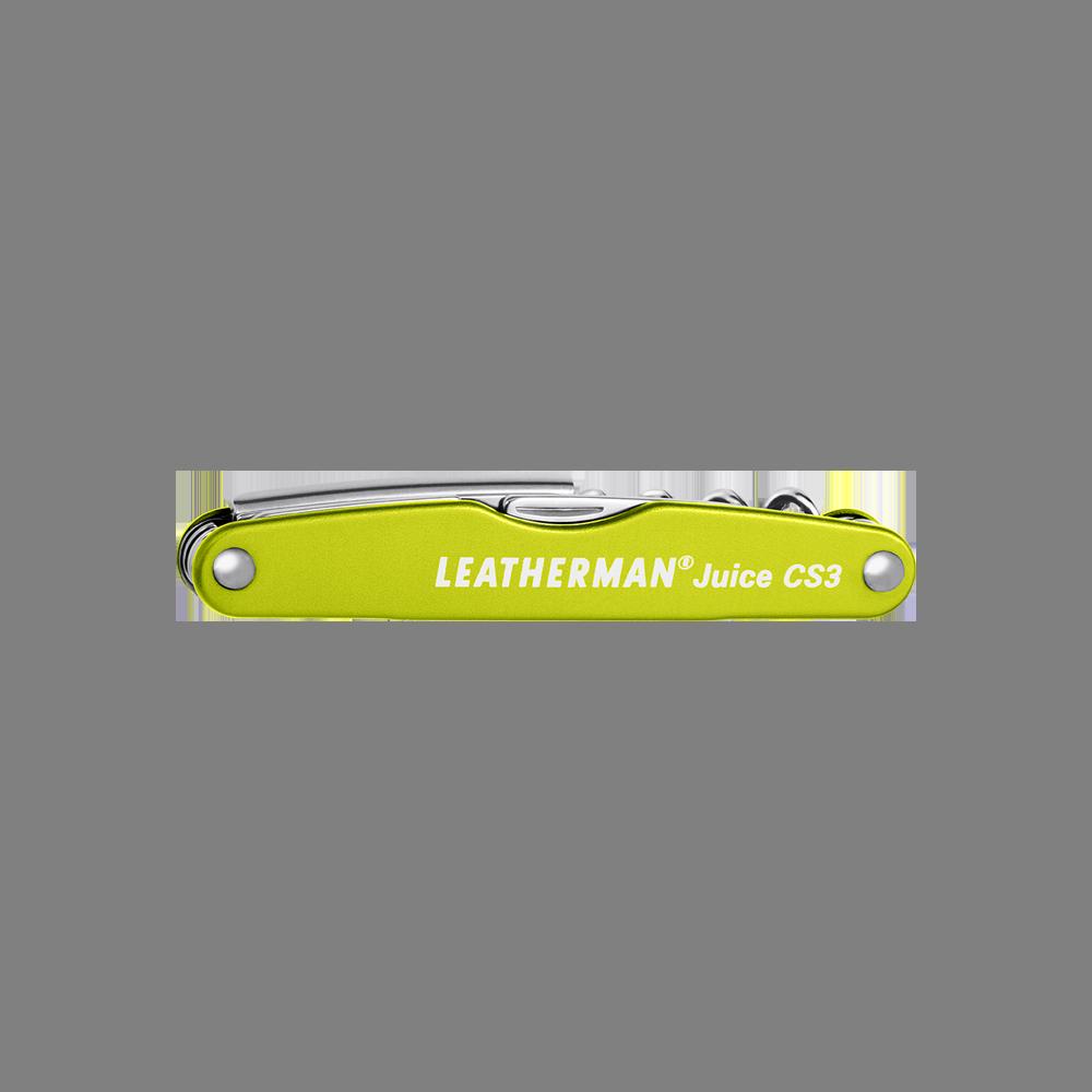 Leatherman Juice CS3 multi-tool, green, 4 tools, closed view