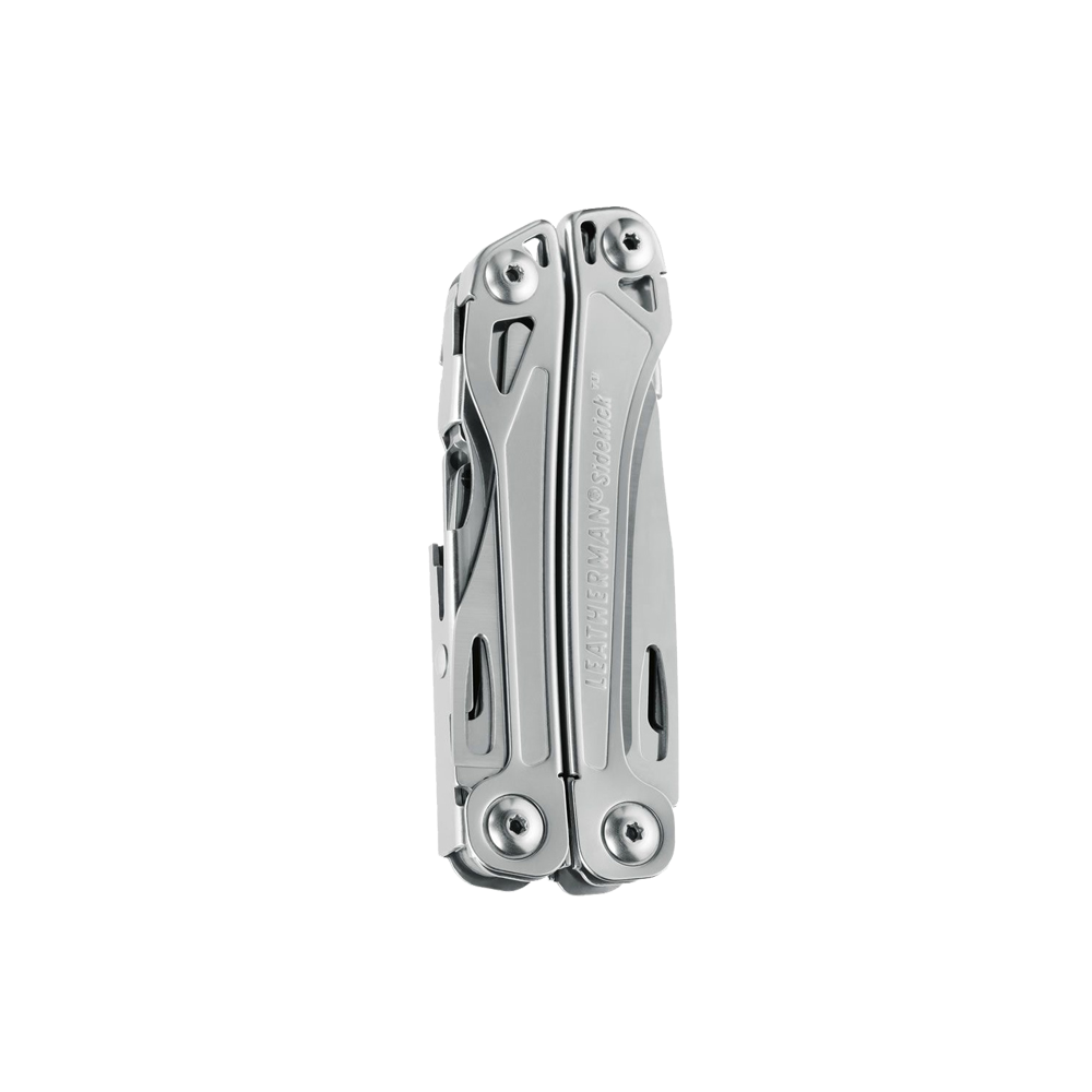 Leatherman sidekick multi-tool, stainless steel, pocket sized, 14 tools, closed view