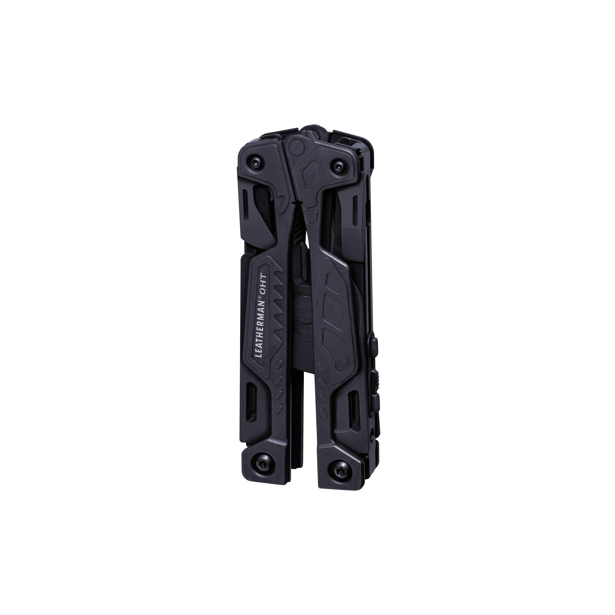 Leatherman OHT multi-tool, black, 16 tools, closed view