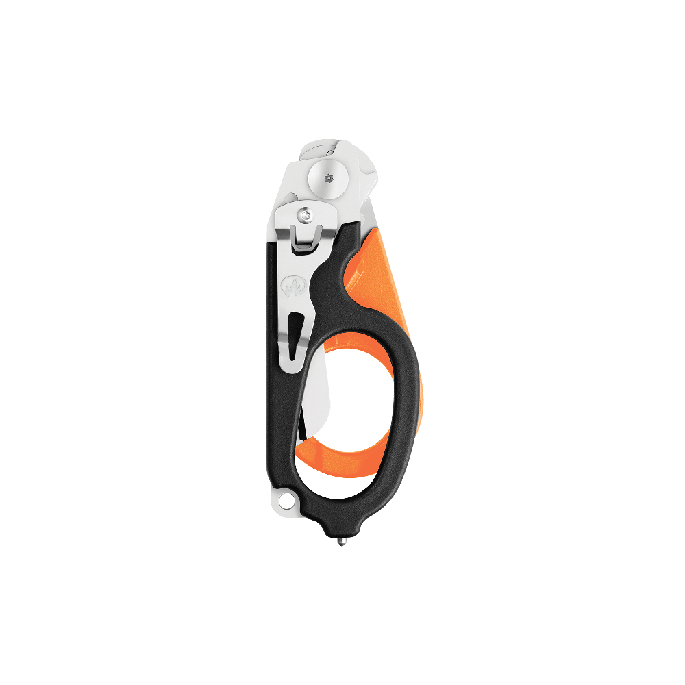 Leatherman Signal shears, orange and black, closed view