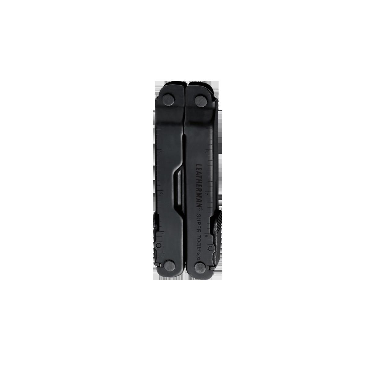 Leatherman super tool 300 multi-tool, black, closed view