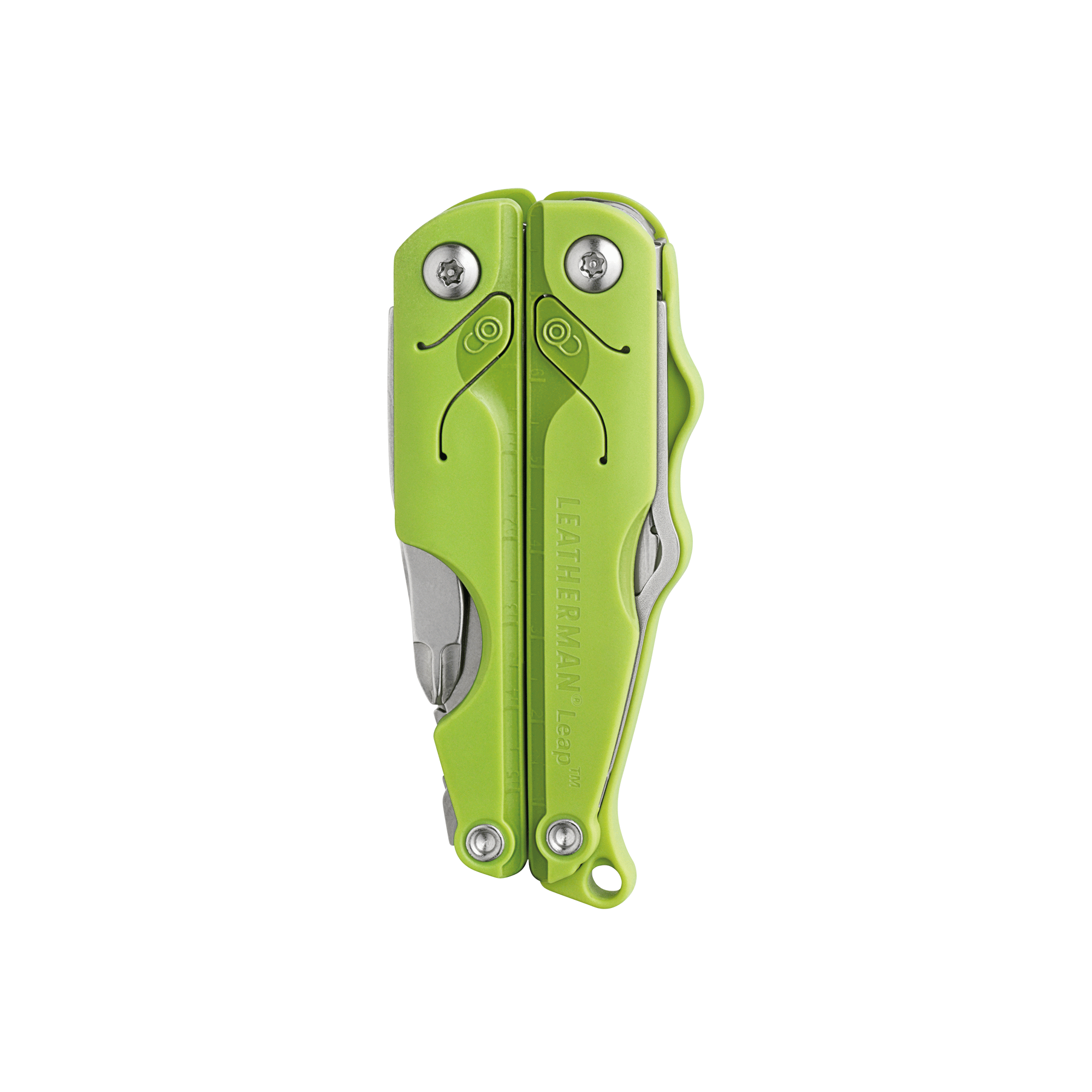 Leatherman leap multi-tool, green, closed view, multi-tool for children