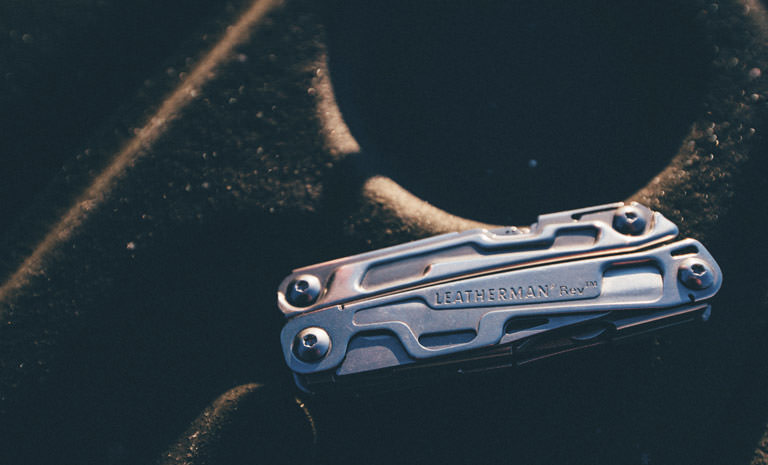 Leatherman rev multi-tool closed, stainless steel