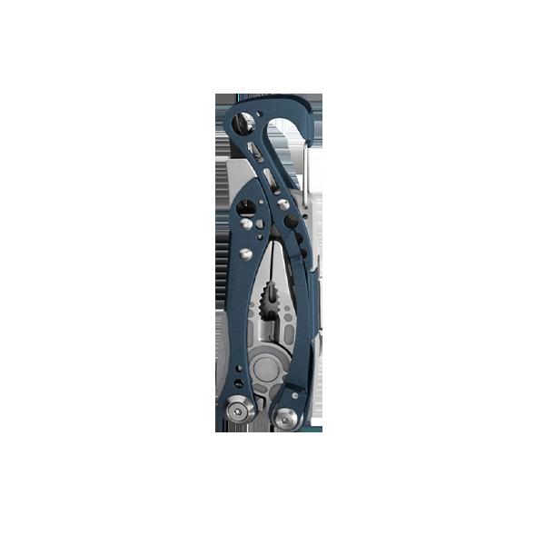 Leatherman skeletool multi-tool, blue, 7 tools, closed view