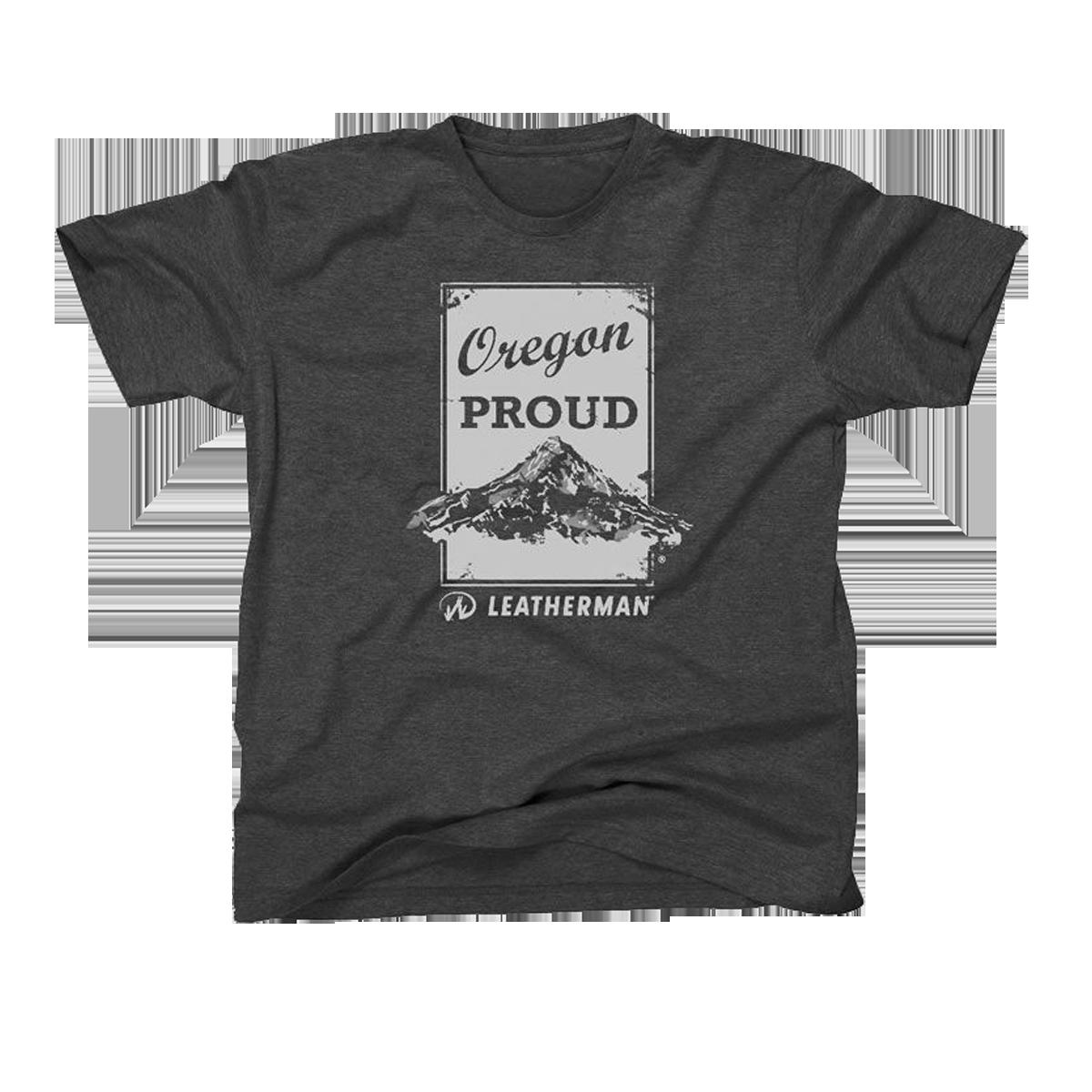 Image of Gray Oregon Proud T-Shirt