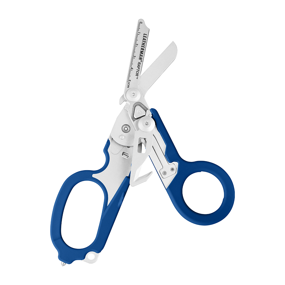 Leatherman Signal shears, blue, open view